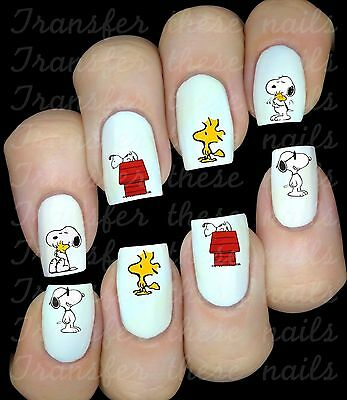 30 Autocollant Stickers ongles Snoopy nail art manucure déco water decal