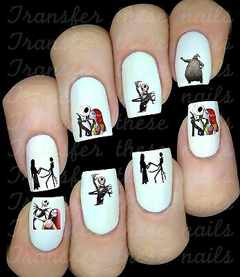 Nightmare before xmas Autocollant Stickers ongles nail art manucure water decal