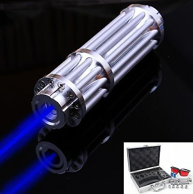445nm Blue Laser Pointer Pen Military Power Visible Beam Cigarette Burn Lighter