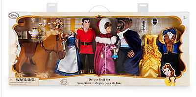 Disney Store Beauty And The Beast Deluxe Doll Set Exclusive Sold Out