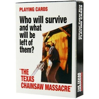 The Texas Chainsaw Massacre Playing Cards Leatherface Poker Deck Licensed Horror