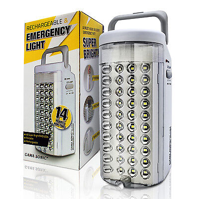 OPEN BOX Gama Sonic 40LED Emergency Light Rechargeable Portable Lantern   DL713