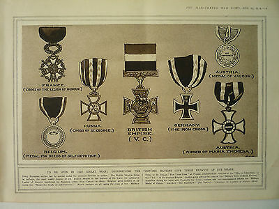 """1914 Ww1 Print. """" To Be Won In The Great War """"  Rare"""