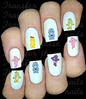 BISOUNOURS  30 Autocollant Stickers ongles nail art manucure water decal