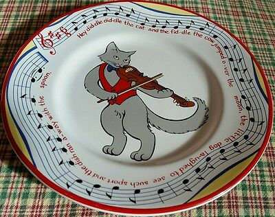 Tiffany & Co. Hey Did-dle Did-dle Cat & the Fiddle Child's Porcelain Plate