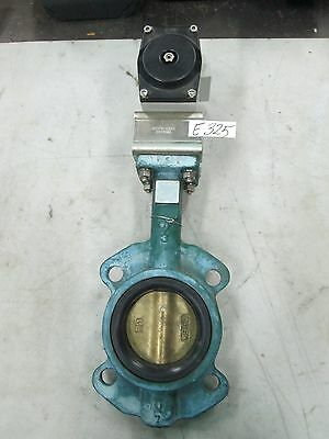 "Unitorq Butterfly Valve Actuator & Indicator On 3"" Wafer Type Valve (New)"