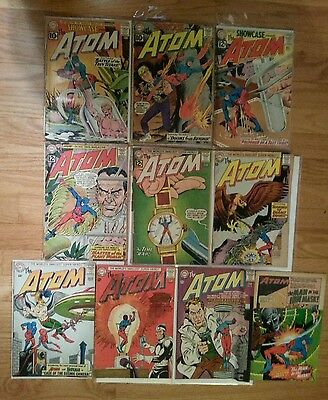 Lot of KEY Silver Age THE ATOM & Showcase 34 35 36 1 3 7 Hawkman 1st Appearance
