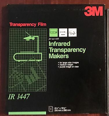NEW 3M Transparency IR 1447 50 Sheets 8 1/2 x 10 1/2 Infrared Purple