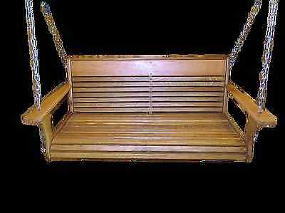 Wormy Oak Porch Swing with hanging kit / Free Engraving