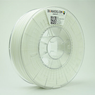 ABS (White) Filament 1,75 mm 3D4Makers 3D-printing