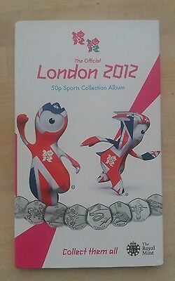 London 2012 Olympic 50p Coin Collection Full Set Album Folder Complete Medallion