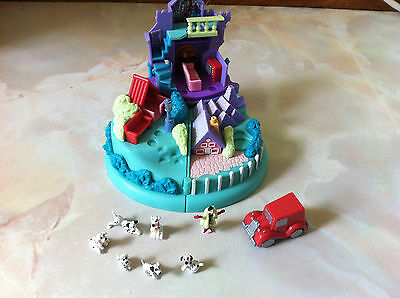 Vintage Disney Polly Pocket, 101 Dalmations,100% Complete, Puppy ,excellent cond
