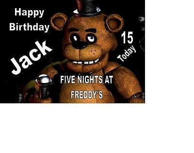Five Nights at Freddys A5 Birthday Card Greetings Card Personalised