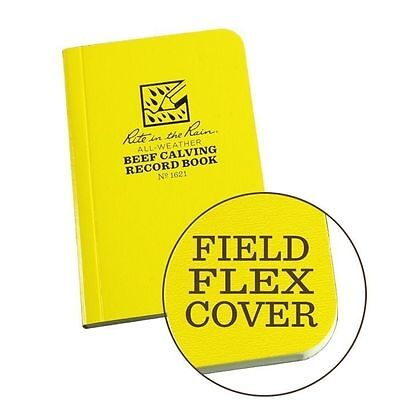 Rite in the Rain 1621 All-Weather Field-Flex Beef Calving Record Book