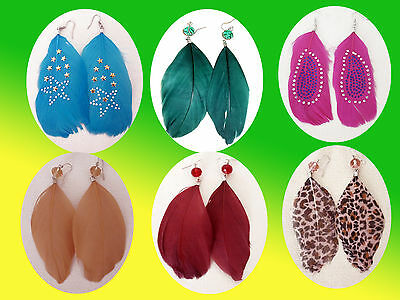 Chic Feather Earrings Ear Jewelry Fashion Jewellery Color Selectable New