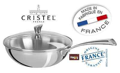 wok 28 cm inox Casteline CRISTEL made in france marmite casserole four pierre 9