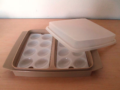 Vintage Tupperware Deviled Egg Serve/storage Tray. Made In Usa.