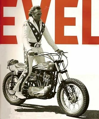 FRIDGE MAGNETS   70MM X 45MM SET OF TWO   Evel Knievel