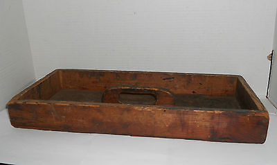 Vintage Antique Wooden Wood Primitive Tray Tote Caddy Utensil Cutlery Box