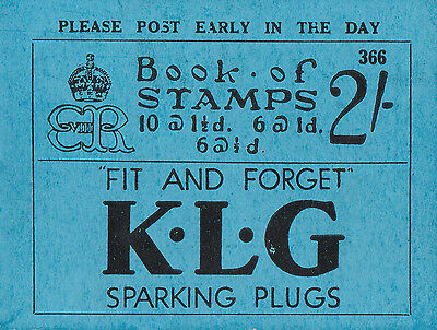 GB: King Ed VIII 1936: BC2 2/- Booklet No 366, good condition, complete