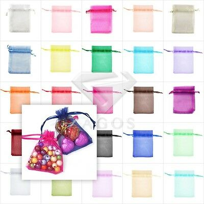 25pcs Organza Gift Bags Pouches Jewellery Wedding Party Favor 26 Colours&7 Sizes