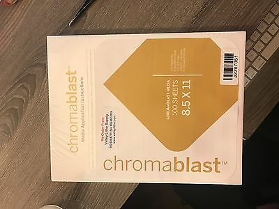 NEW & UNOPENED Chromablast Heat Transfer Paper 8.5 x 11 - 100 Sheets