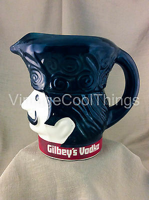 Collectible Ceramic Gilbey's Vodka Pitcher Toby Russian Soldier Mug Barware