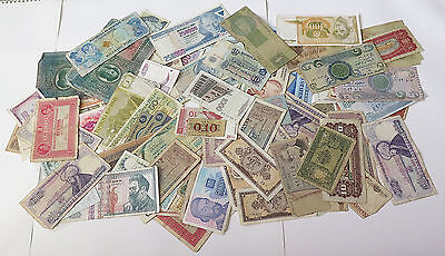 COLLECTION BANKNOTES LARGE WORLD LOT 120 pc  #xbb 089