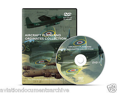 Aircraft Plans and Ordinates Collection in CD/DVD- Free Shipping