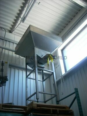 Vibratory Cap Feeding System With Large Hopper, Stainless Steel Construction