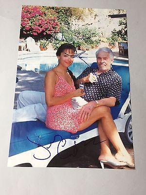 JAMES COBURN († 2002) & PAULA O'HARA († 2004) In-person signed Magazinbild 20x30