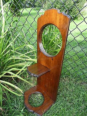 Vtg Mirror/antique Hall Tree Mirror/ Vtg Umbrella Stand/ Wooden Wall Shelf