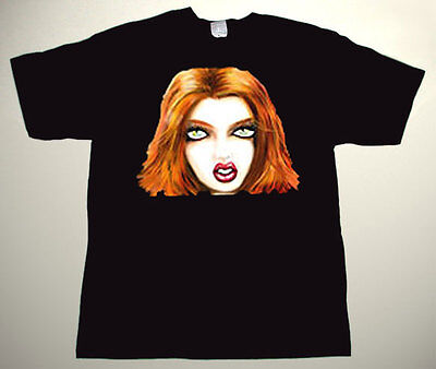 GARBAGE Shirley Manson cartoon DELUXE CUSTOM ART UNIQUE T-SHIRT ++