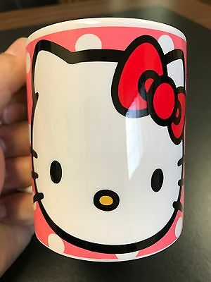 Custom Made Hello Kitty Polka Dot 11oz Coffee Mug