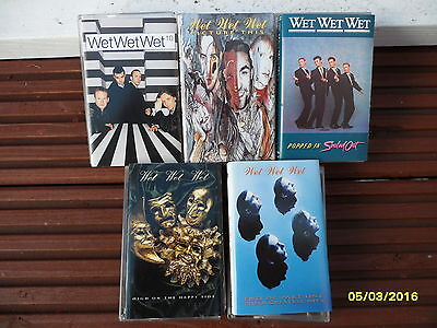 Wet Wet Wet Cassette Lot Popped In Sold Out, Picture This, 10, Greatest Hits