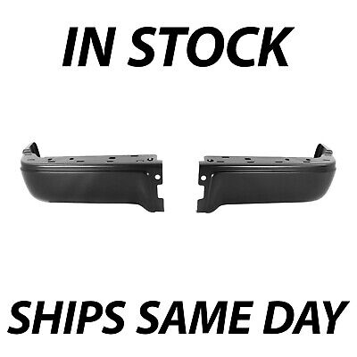 NEW Primered - Drivers Passengers Steel Rear Bumper Ends for 2009-2013 Ford F150