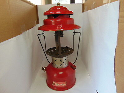 1965 - 11 Coleman Red Lantern Model 220E Made in Canada No Globe