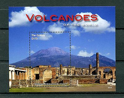 Gambia 2016 MNH Volcanoes of World 1v S/S Mount Vesuvius Landscapes Stamps