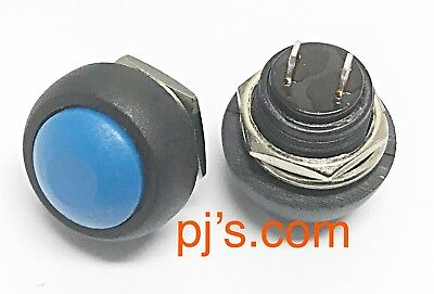 Mini 12mm Waterproof momentary Push button Switch 250V 10A 1pc Blue