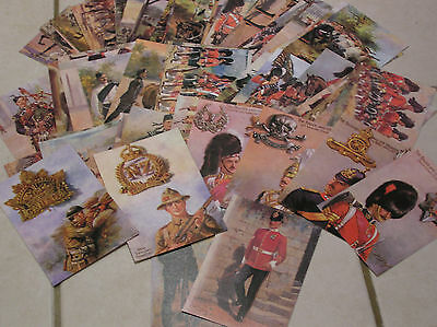 MILITARY REGIMENT POSTCARD COLLECTION 72 based on original HARRY PAYNE OILETTES