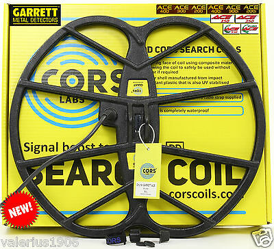 "New CORS GIANT 15""x17"" DD coil for Garrett ACE 150/250/350/200/300/400/Euro"