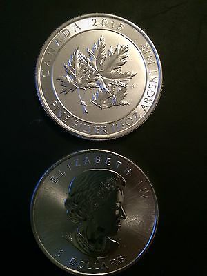 Silver Coin Maple Leaf 2015 999/1000 1.5 Ounce Argent Pièce Neuf - Uncirculated
