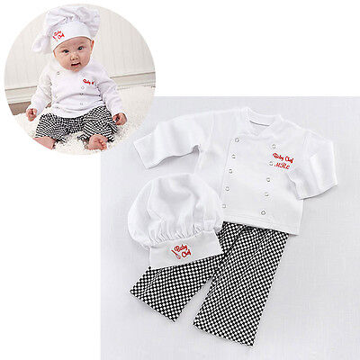 Baby Boy Girl Chef Cook Party Costume Fancy Dress Photography Outfit Clothes Set