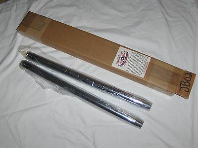 "Harley 35Mm Fork Tubes 2"" Under Stock Length Xl Fx New 1St Quality 21-1/4 Chrome"