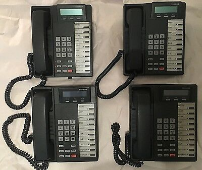 Lot of Four(4) Toshiba DKT2010-SD Digital Business Phones w/Handsets