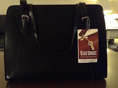 NWT JACK GEORGES Milano Collection Top Zip Tote