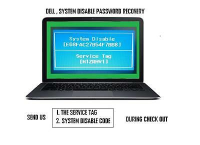 DELL  Dell system disablePassword Removal Service.