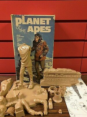Vtg Addar Products Corp Planet Of The Apes Cornelius Plastic Model1973