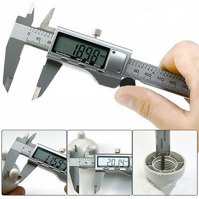 "6"" 150mm Electronic Digital Stainless Steel Vernier Caliper Micrometer Guage LCD"
