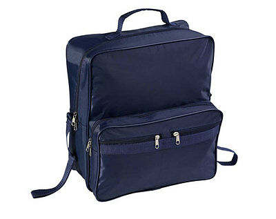 Large Wheelchair/mobility Scooter Shopping Bag/holdall Handle Blue Zips New Uk!!